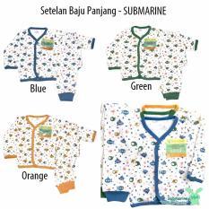 Diskon Aruchi Set Piyama Bayi Baju Celana Panjang Motif Submarine Isi 3Stel Indonesia