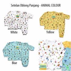 Jual Beli Aruchi Set Piyama Bayi Oblong Panjang Motif Animal Colour Isi 3Set Baru Indonesia