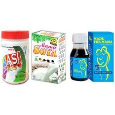 Dapatkan Segera Asi Booster Bundling Paket Pelancar Asi Mama Soya Asi Booster Tea Dan Madu For Mama