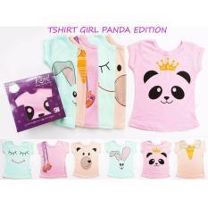 Dapatkan Segera Atasan Kazel Tshirt G*rl Panda Edition G*rl 6 Pcs