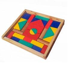 Jual Atham Toys Balok Bangun Mdf Bingkai A48 Satu Set