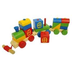 Jual Atham Toys Kereta Kayu Pelangi Branded Original