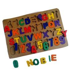 Jual Atham Toys Puzzle Alphabet Angka Cat Huruf B Jawa Barat Murah