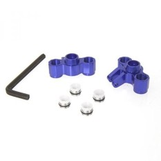 Atomik RC Alloy Front Axle Carriers, Blue fits the Traxxas 1/16 Slash 4x4 and Other Traxxas Models - Replaces Traxxas Part 7034 - intl