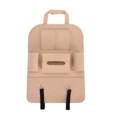 Auto Car Seat Back Multi-pocket Storage Bag Organizer Pemegang Aksesori Beige-Intl