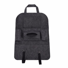 Jual Auto Car Seat Back Multi Pocket Storage Bag Organizer Holder Accessory Deep Grey Intl Branded Murah