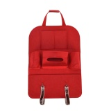 Spesifikasi Auto Car Seat Back Multi Pocket Storage Bag Organizer Holder Accessory Red Intl