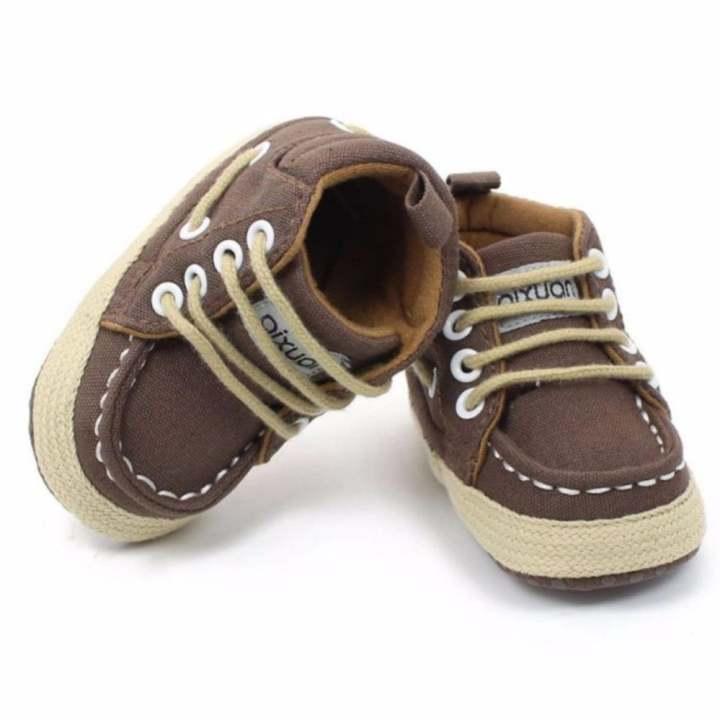Ava Baby Prewalker Canvass Boots Sepatu Bayi Laki-laki