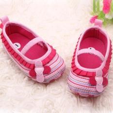 Ava Baby Prewalker Flower Stripes Pink Sepatu Bayi Perempuan Asli