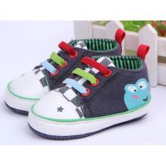 Ava Baby Prewalker Frog Denim Sneakers Sepatu Bayi Laki-laki