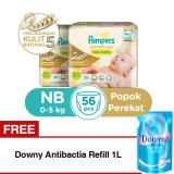 Jual B2G1F Pampers Popok Premium Care Taped Nb 28 X 2 Free Downy Antibactia Refill 1L Lengkap