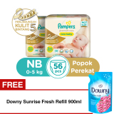 Spesifikasi B2G1F Pampers Popok Premium Care Taped Nb 28 X 2 Free Downy Sunrise Fresh Refill 900Ml Murah