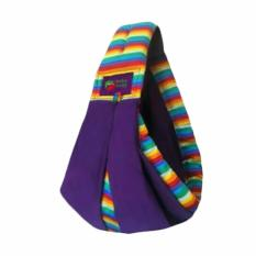 Baba Slings Stripe Gendongan Bayi - Rainbow Purple