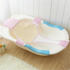 Jaring bak mandi bayi baru lahir dukungan keamanan kursi mandi anak tambahan (berwarna merah muda) - International