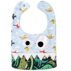 Baby Bibs Katun Murni Saliva Towel Kids Pinafore Spesifikasi: 07 Blue Plane + Dinosaurus-Intl