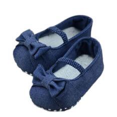 Jual Baby Bowknot Denim Toddler Princess First Walkers Girls Kid Shoes Intl Oem Branded