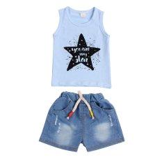 Jual Baby Boy Summer Sleeveless Vest Pendek Jean Pakaian Set Intl Vakind Original