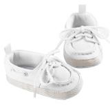 Diskon Baby Boys Girls White Mengikat Telapak Kaki Lembut Kanvas Sepatu Prewalker 11 Cm Branded