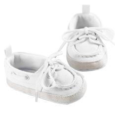 Tips Beli Baby Boys Girls White Mengikat Telapak Kaki Lembut Kanvas Sepatu Prewalker 11 Cm
