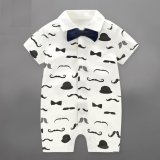 Toko Baby Boys Rompers Children Summer Beard Style Gentleman Bow One Piece Tie Boy Suits Intl Dekat Sini
