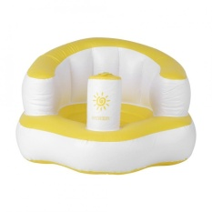 Baby Built In Pump Bath Seat Inflatable Chair Sofa Play Kids - intl