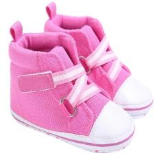 Toko Bayi Kanvas Sepatu Lembut Sole Kasual Prewalker Merah Muda Termurah