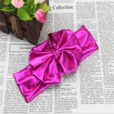 Baby Clothes Child Hair Accessories Bow Headband Hair Hoop Christmas Gift T332 Rose - intl