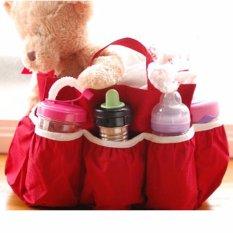 Baby Diaper Bag Organizer BDBO polos DBO Tas popok botol susu bayi/balita - Red