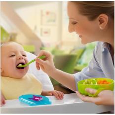 Makan Bayi Makan Malam Kotak Mudah Mengambil Gambar Kartun Makanan Kotak Penyimpanan dengan Sendok-Intl