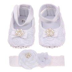 Harga Bunga Putri Alas Kaki Sepatu Bayi Mutiara Bando Putih Vakind Ori