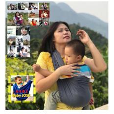 Toko Baby Jose Premium Q Gendongan Bayi Kaos Size M Dark Grey Selendang Bayi Geos Padie Yang Bisa Kredit