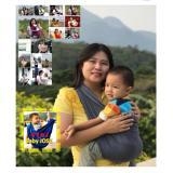 Baby Jose Premium Q Gendongan Bayi Kaos Size L Dark Grey Selendang Bayi Geos Padie Murah