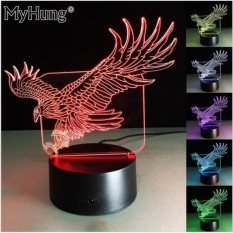 Baby Gifts Cool Flying Big Eagle Shape Night Light 3D IllusionLEDLamp 7 Colors Changing Acrylic Table Lamp as Bedside Light