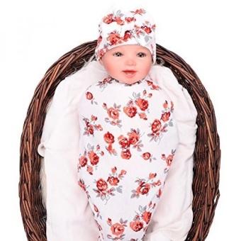 Harga preferensial Bayi Selimut Anak Perempuan dan Topi Berpita Set Pakaian  Bayi Baru Yang Lahir Topi Kerpus Membedung Selimut untuk Bayi Baru Lahir- Intl ... 1e4467d50f