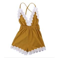 Beli Baby G*rl Bodysuit Romper Jumpsuit Outfits Lace Summer Clothes 90Cm Intl Nyicil