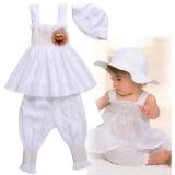 Toko Baby G*Rl Cute Musim Panas 3 Pcs Strap Set Topi Top Celana Yang Bisa Kredit