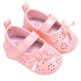 Sepatu Datar Bayi Pu Berongga Antiskid Bayi Perempuan Baru Lahir Putri Sepatu Merah Muda 13 Cm Intl Domybestshop Diskon 40