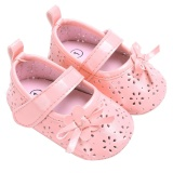 Harga Sepatu Datar Bayi Pu Berongga Antiskid Bayi Perempuan Baru Lahir Putri Sepatu Merah Muda 13 Cm Intl Di Tiongkok