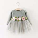 Anak Perempuan Anak Perempuan Musim Gugur Musim Dingin Jaket Bomber Lengan Panjang Fashion Bunga Gaun Tiongkok Diskon