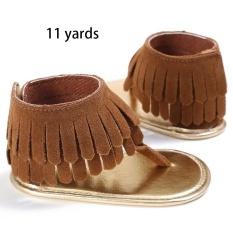 Pakaian Bayi Perempuan Bermotif Rumbai Sepatu Sandal Musim Panas Anti-Slip Flip Flop Prewalker Beach-International