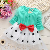 Diskon Baby G*rl Toddler Party Long Sleeve Polka Dot Princess Tutu Bow Dress Skirt Tiongkok