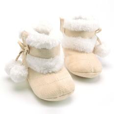 Jual Beli Online Bayi Perempuan Simpul Sepatu Bot Salju Musim Dingin Dril