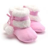 Penawaran Istimewa Pita Gadis Bayi Musim Dingin Salju Boots Pink Terbaru