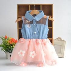 Promo Bayi Gadis Pakaian Denim Top Sun Bunga Putri Tutu Gaun Baru Intl Oem