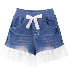 Baby Girls lace denim short jeans - intl