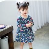 Toko Baju Biru Anak Bayi Perempuan Katun Bermotif Bunga Gaun Vintage Lengan Panjang Model Eropa Gaun Ulang Tahun Balita Pakaian Bayi Biru Internasional Oem Di Tiongkok