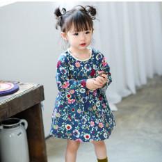 Review Toko Baju Biru Anak Bayi Perempuan Katun Bermotif Bunga Gaun Vintage Lengan Panjang Model Eropa Gaun Ulang Tahun Balita Pakaian Bayi Biru Internasional Online