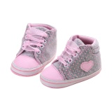 Beli Baby Girls Soft Soles Canvas Sneaker Prewalkers Shoes Grey Intl Dengan Kartu Kredit