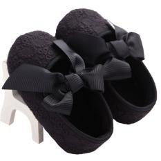 Bayi Gadis Balita Sepatu Bayi Kapas Sepatu Putri Seri 0 untuk 1 Tahun Tua WMC682 Hitam-Intl