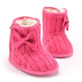 Promo Bayi Perempuan Sepatu Bot Salju Musim Dingin With Ikatan Simpul Naik Merah Akhir Tahun